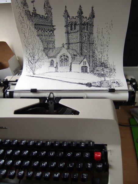 typewriter-art-desene-masina-scris-5