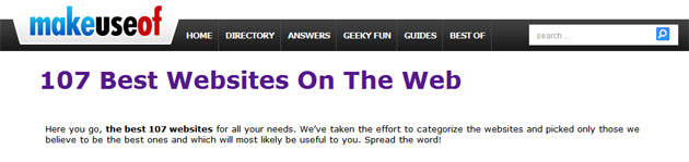 makeuseof cele mai bune 107 siteuri de pe net