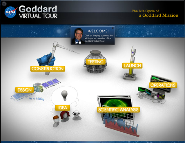 NASA-Goddars-space-flight-center-tur-virtual-website-interesant