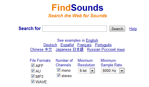 find-sounds-motor-cautare-sunete-web