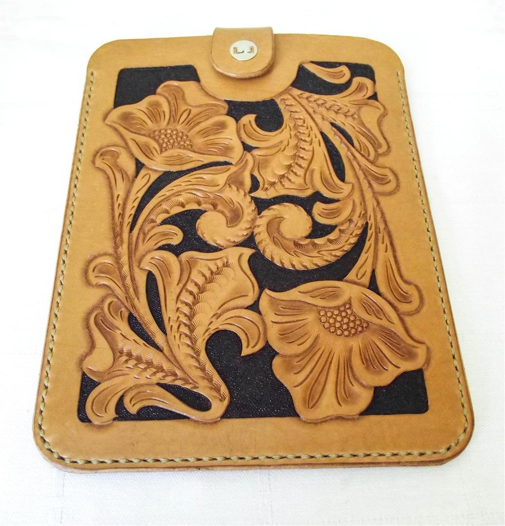 husa piele tableta handmade