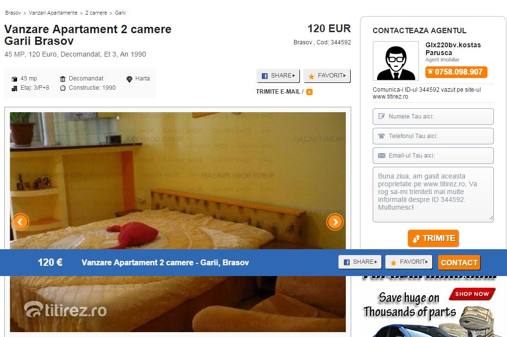 small-Vanzare Apartament 2 camere Garii Brasov 120 Euro - 344592    Titirez.ro